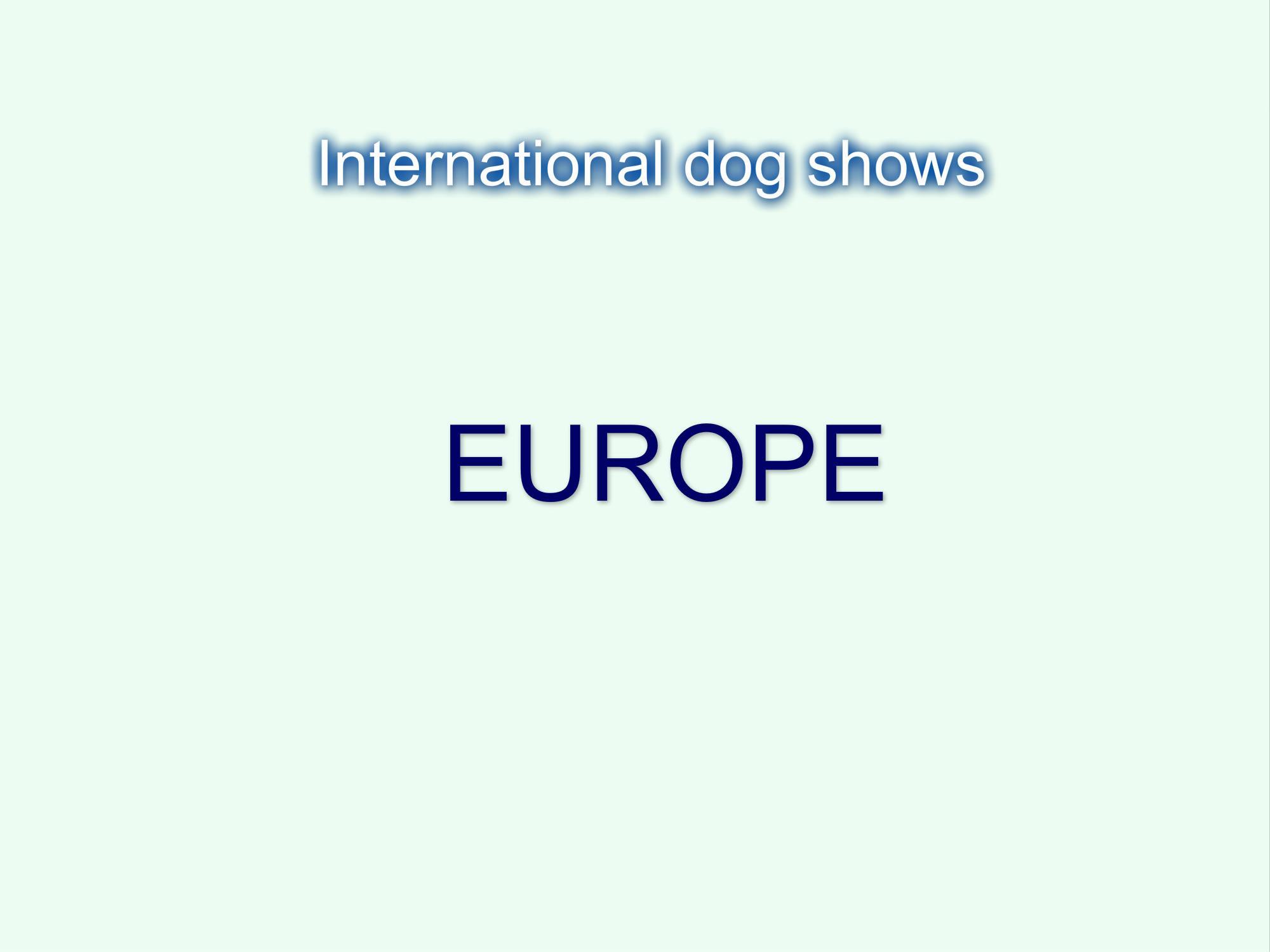 Expocani Calendario.Europe International Dog Shows 2019 Cacib Jelena Dogshows