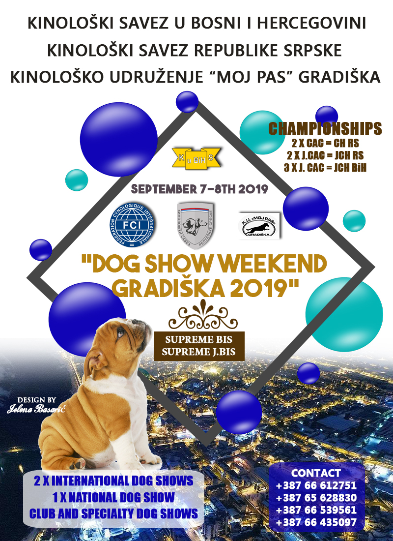 Dog Show Weekend Gradiška 2019, 7-8th September 2019