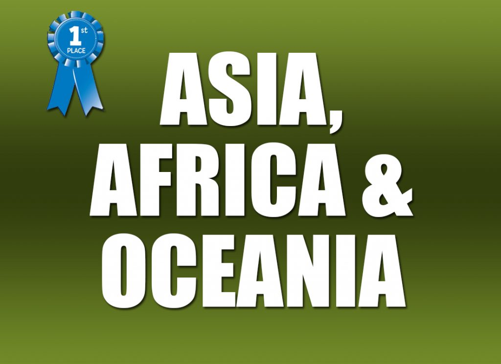 Asia, Africa and Oceania