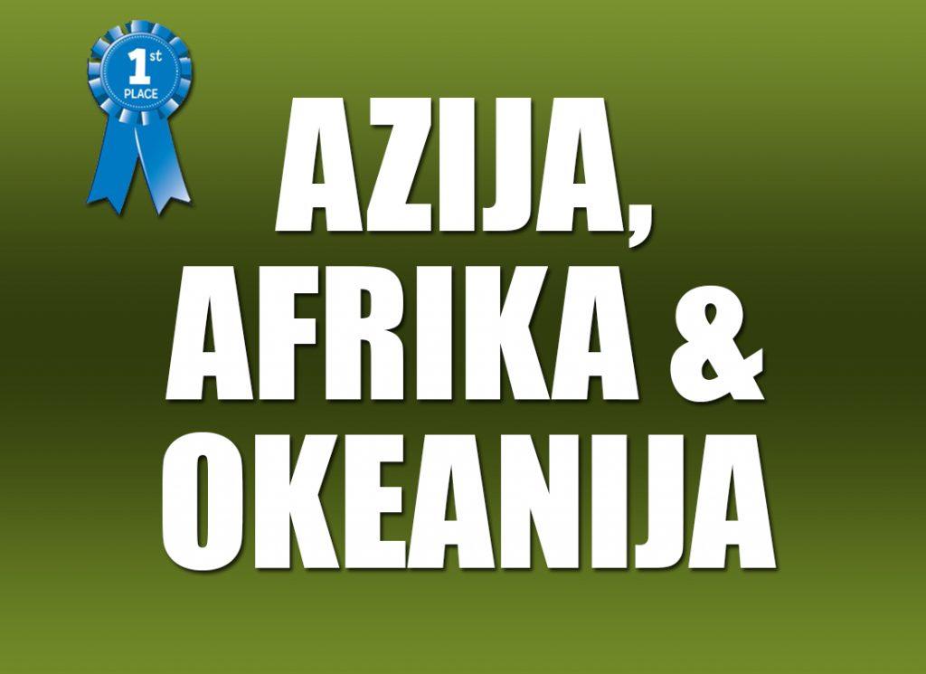 Azija, Afrika i Okeanija